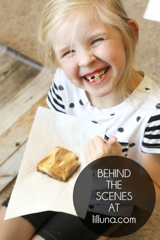 Behind the Scenes - Cream Cheese Blondie