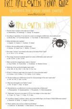 FREE Halloween Trivia Quiz