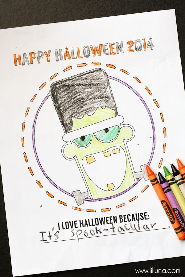 FREE Halloween Coloring Pages - perfect for the kids to color and for you to keep for their keepsake boxes.