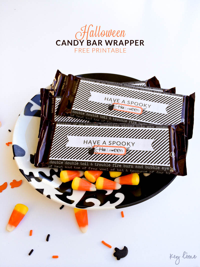 FREE Halloween Candy Bar Wrappers on { lilluna.com } A fun print to add to any Halloween treat!