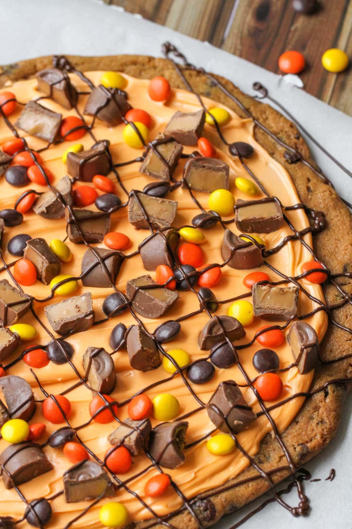 Halloween cookie cake recipe