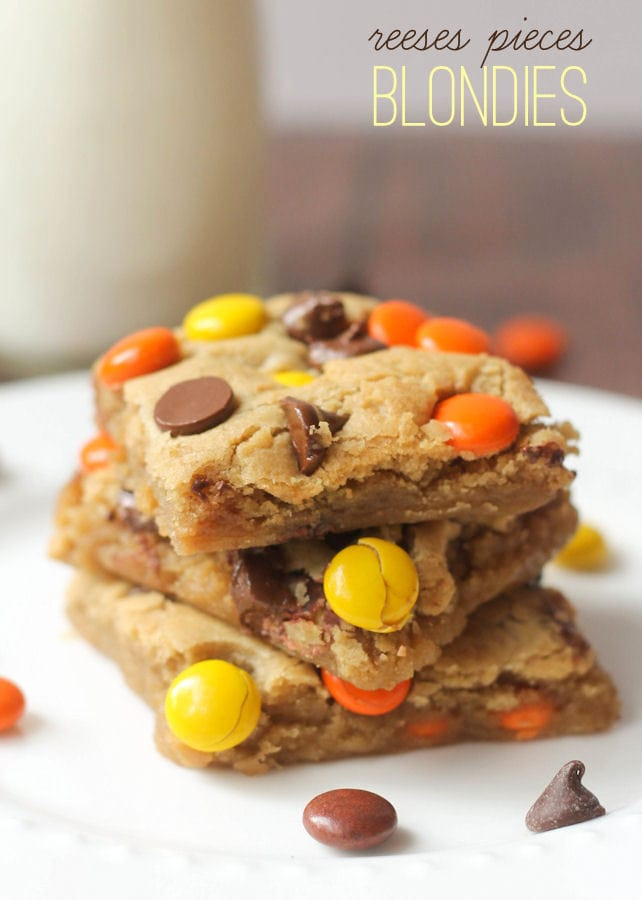 reeses pieces blondies