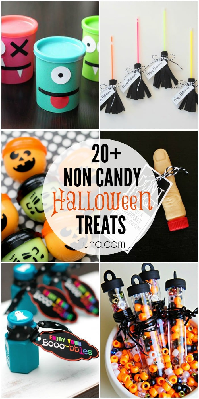 20+ Non-Candy Halloween Treats on { lilluna.com }!! The perfect treats for gifts, handout to trick or treaters, or as party favors.