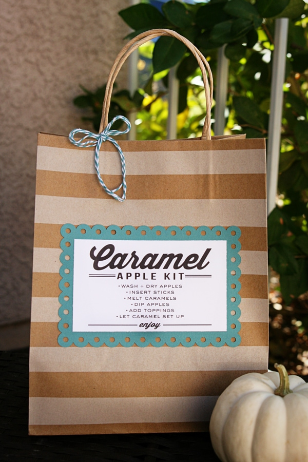 Carmale Apple Kit Gift idea with free print on { lilluna.com }
