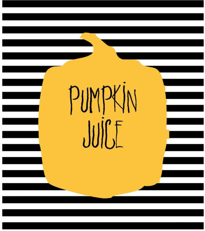 FREE Halloween Soda Pop Labels Pumpkin Juice- download on { lilluna.com } A fun way to change your sodas for your next Halloween get together!