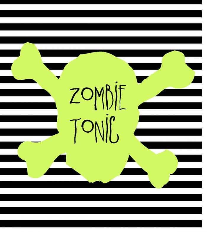 FREE Halloween Soda Pop Labels Zombie Tonic- download on { lilluna.com } A fun way to change your sodas for your next Halloween get together!