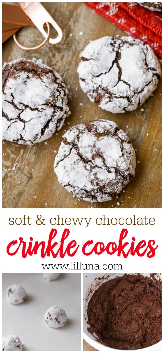 Soft & Chewy Chocolate Crinkles