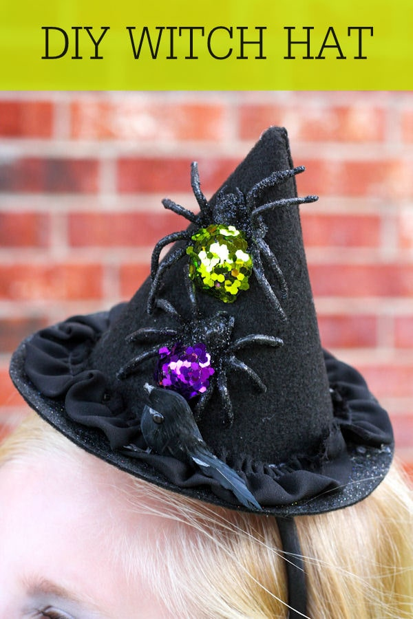 Cute and Simple DIY Witch Hat tutorial on { lilluna.com }