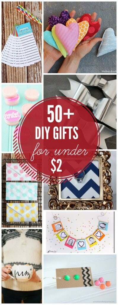 50+ Handmade Gift Ideas for under $2 - a great collection on { lilluna.com } So many cute ideas!!
