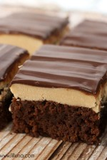 Buckeye Brownie recipe on { lilluna.com } #brownies