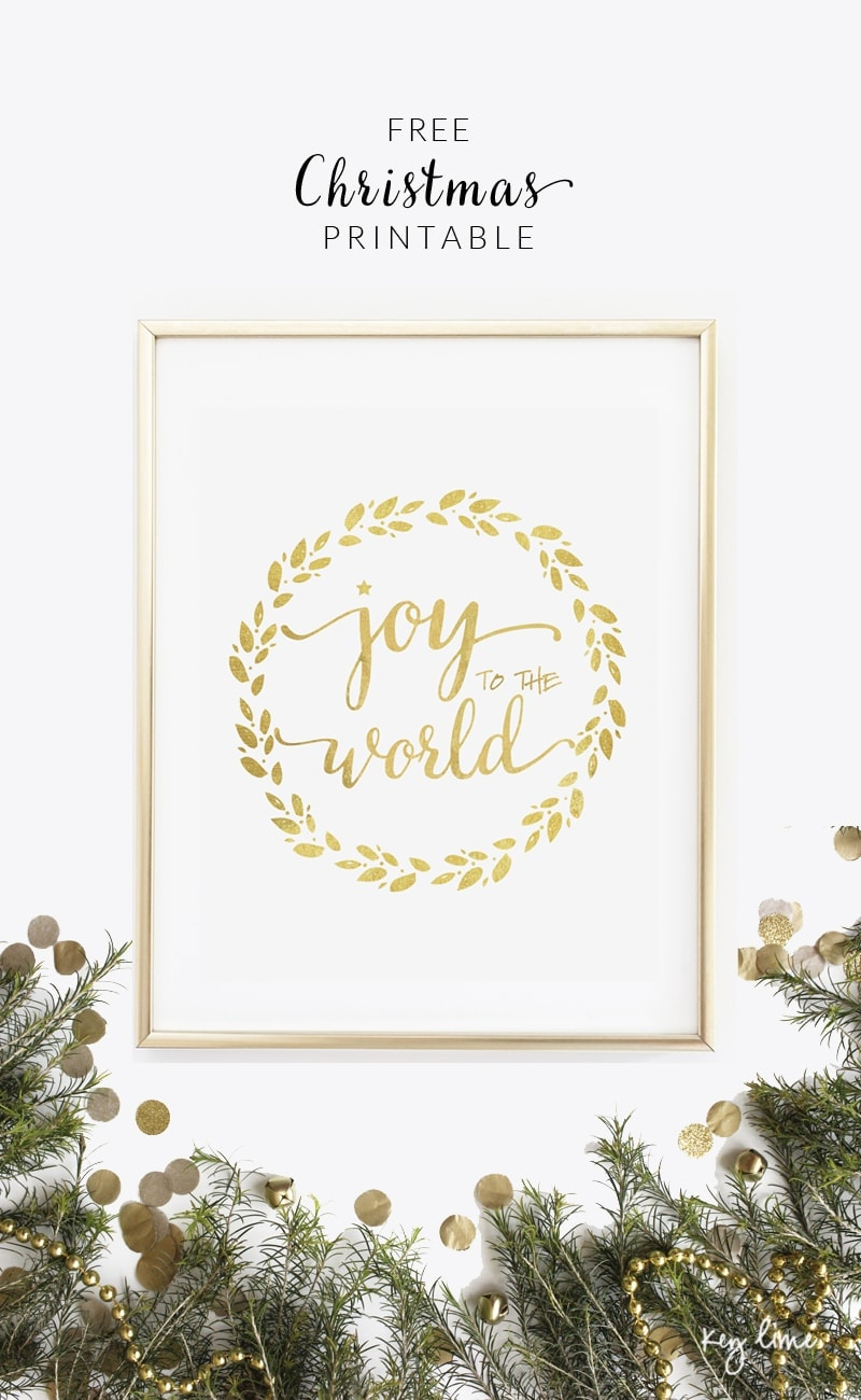 FREE Joy to the World Printable - download at { lilluna.com } Simple and beautiful!