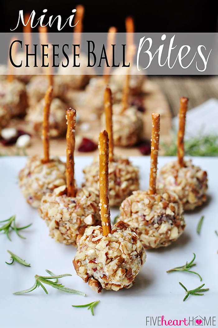 Mini Cheese Ball Bites | FiveHeartHome.com