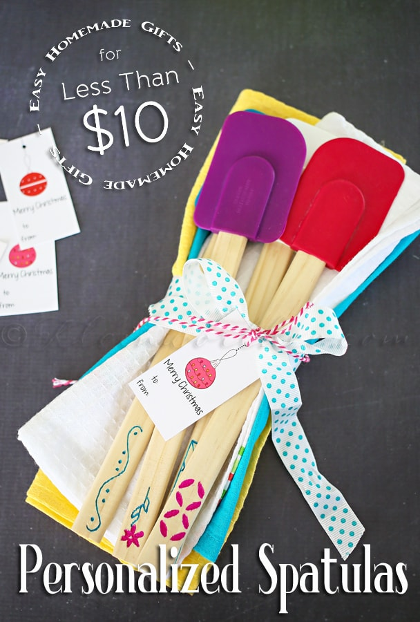 Personalized Spatulas - a cute and simple gift idea! An inexpensive, but great gift!
