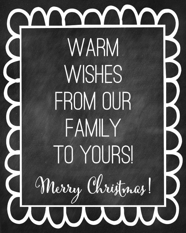 Salsa Tag - Warm Wishes. A great Christmas tag to add to any gift!