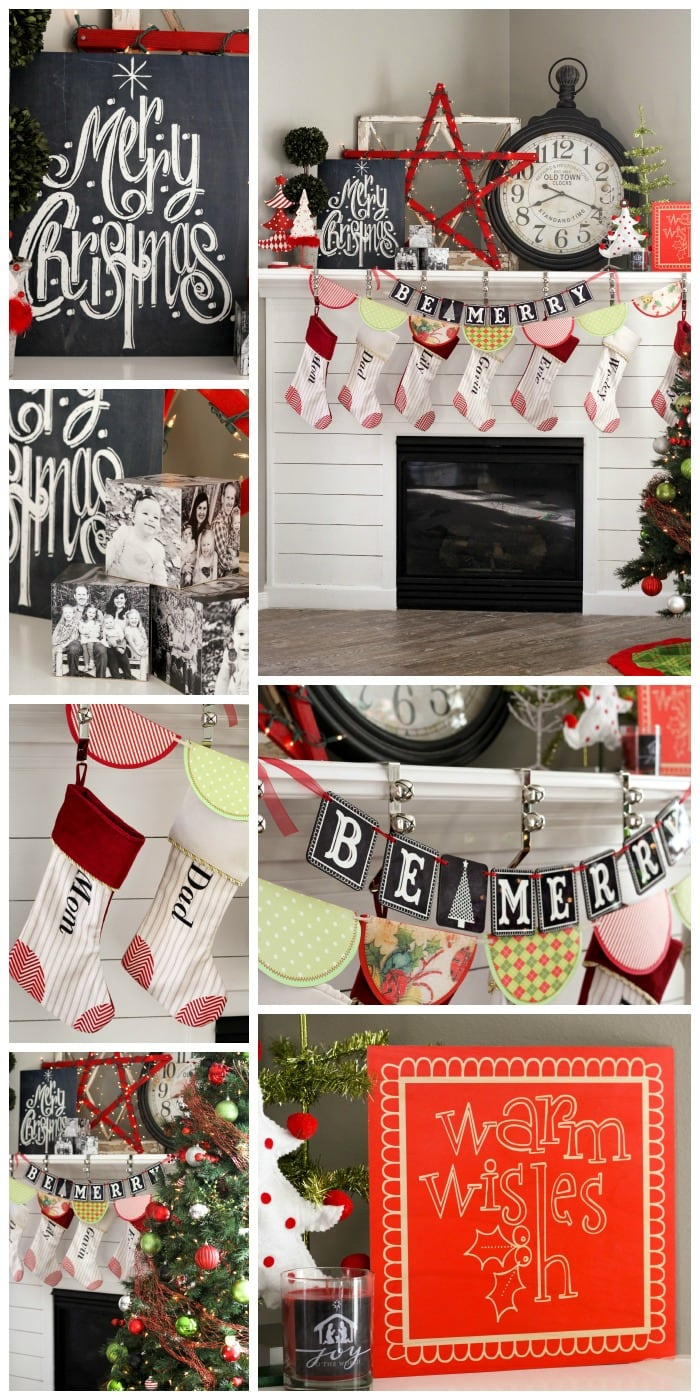 Tips on Decorating your Christmas Mantel { lilluna.com }