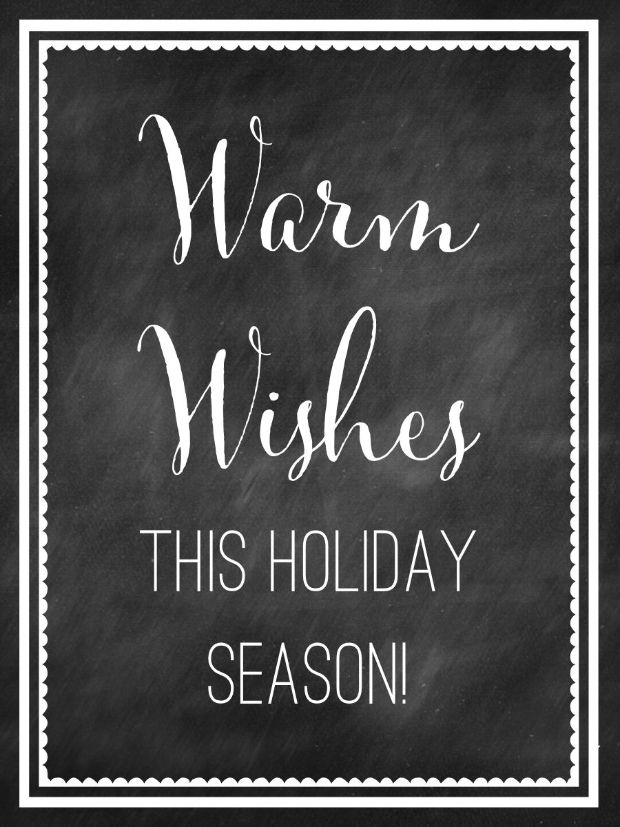 Warm Wishes Tag Free Print-add to your holiday treats and gifts!