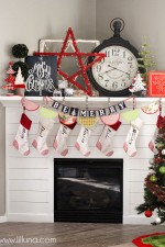 Christmas Mantel + $200 Shutterfly Giveaway