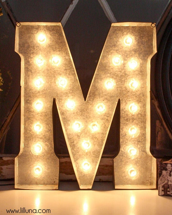 diy marquee letter tutorial on lillunacom love this you need your