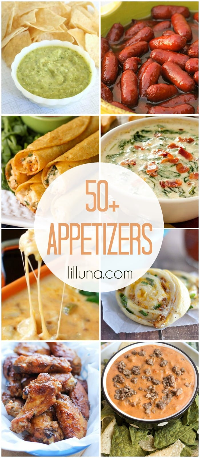 50+ Appetizer Recipes - perfect for all the upcoming New Years parties! Check it out on { lilluna.com }