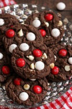 Black and White Chocolate Peppermint M&M Cake Cookies