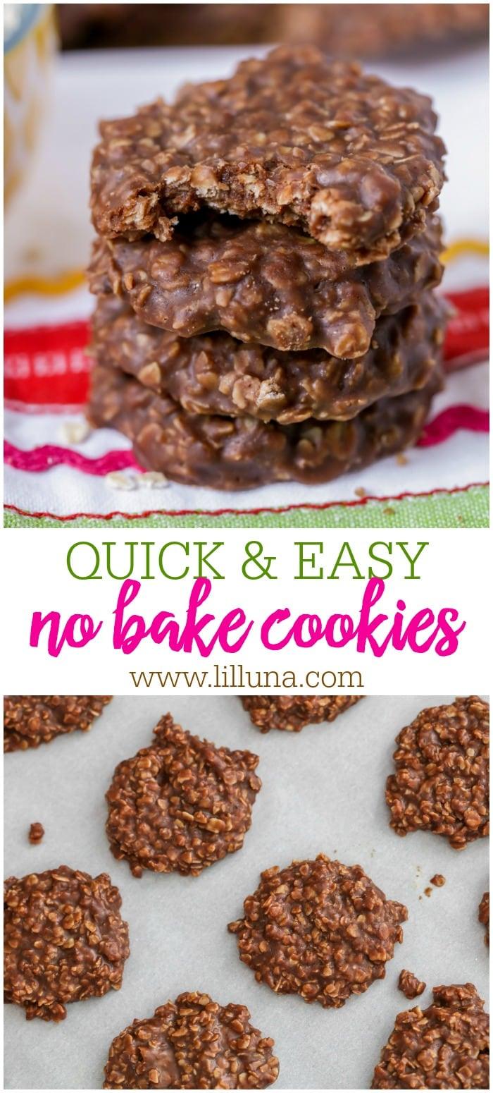 Quick & Easy No Bake Cookies