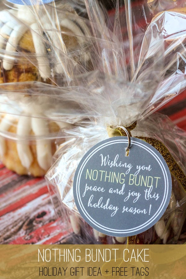 LOVE this holiday gift Idea - NOTHING BUNDT CAKE + Free Tags on { lilluna.com }