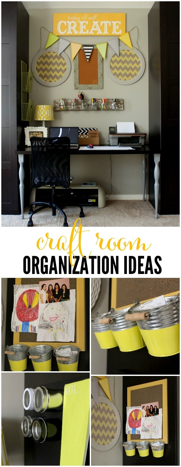 Craft room organization ideas lil 39 luna for Craft supplies organization ideas