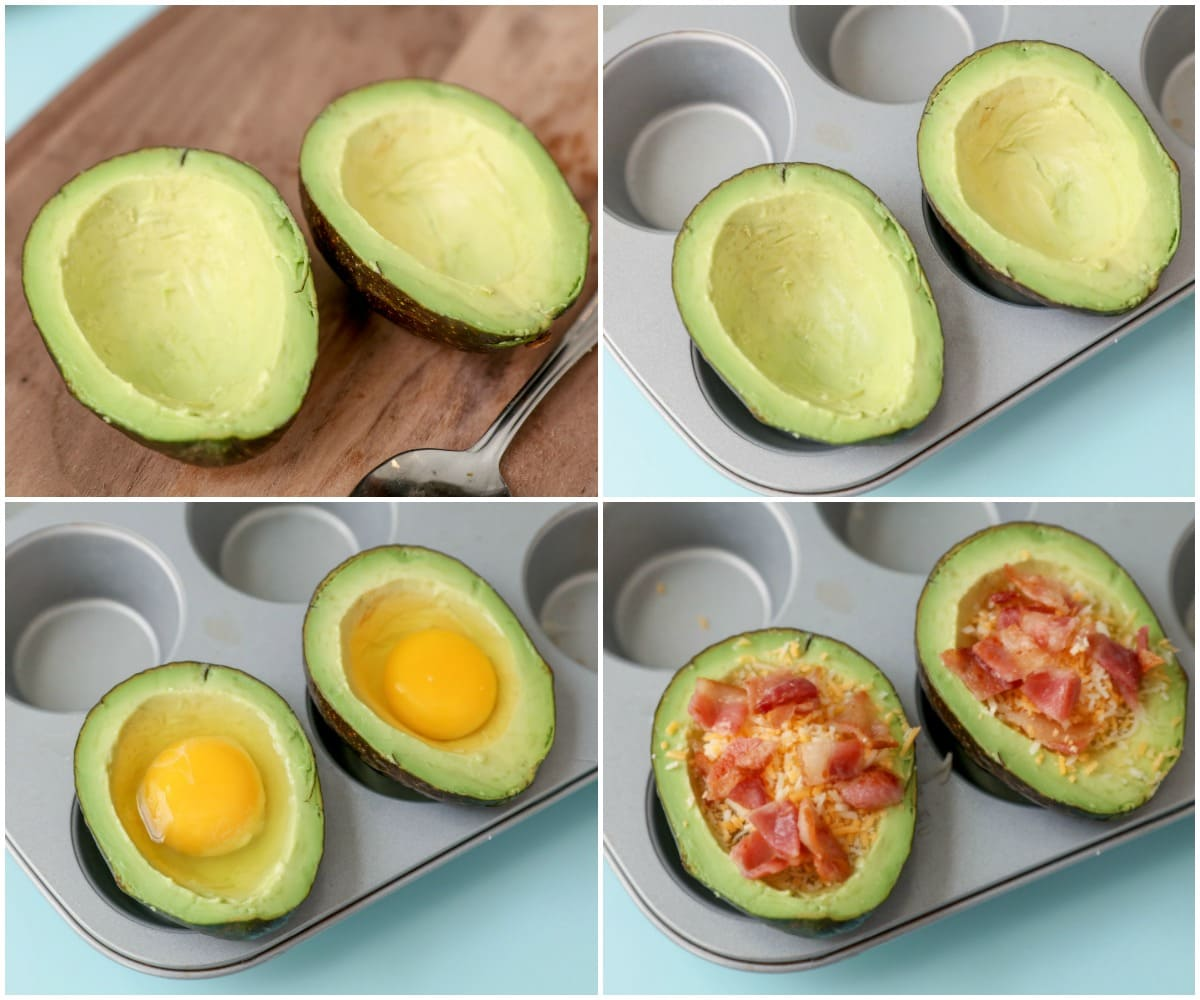 Baked Avocado Egg process pics