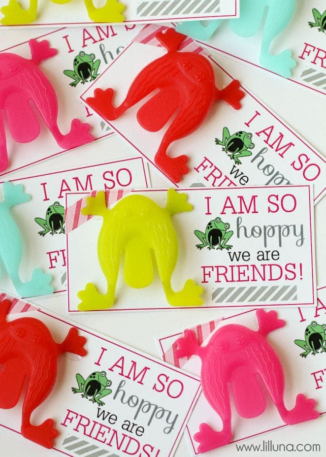 So HOPPY we are Friends Valentines. Cute and Easy! Download on { lilluna.com }