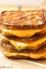 Mini Avocado Grilled Cheese Sandwiches
