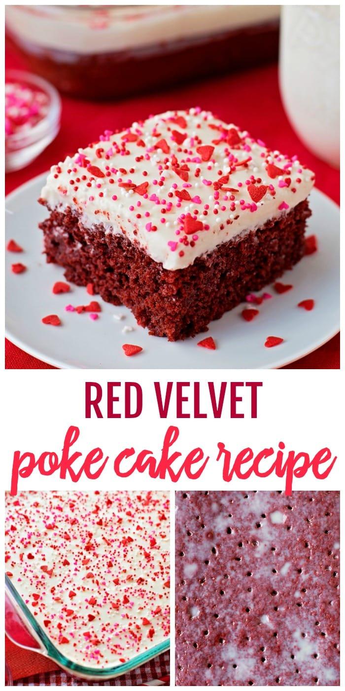 Delicious Red Velvet Poke Cake
