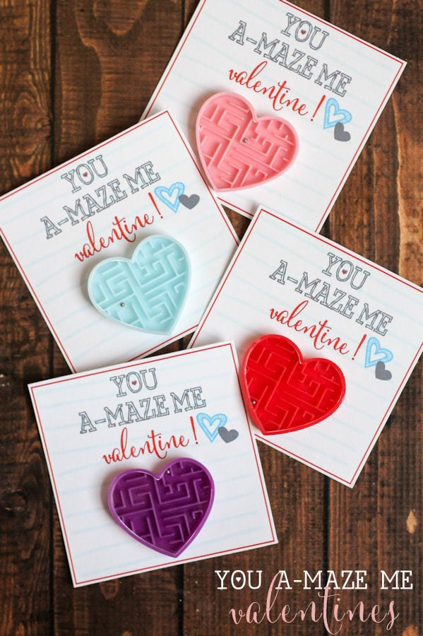 You A-MAZE Me Valentines - free prints on { lilluna.com } Such a cute idea!