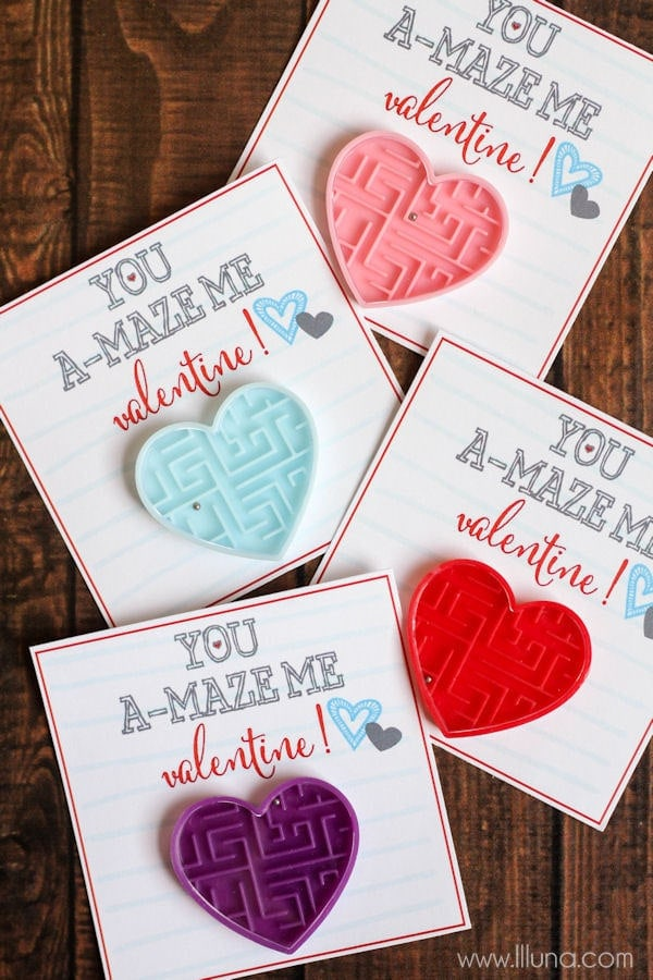 You A-MAZE Me Valentines - free prints on { lilluna.com } A cute and simple Valentine that kids will love.