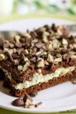 Chocolate Ganache Mint Brownies