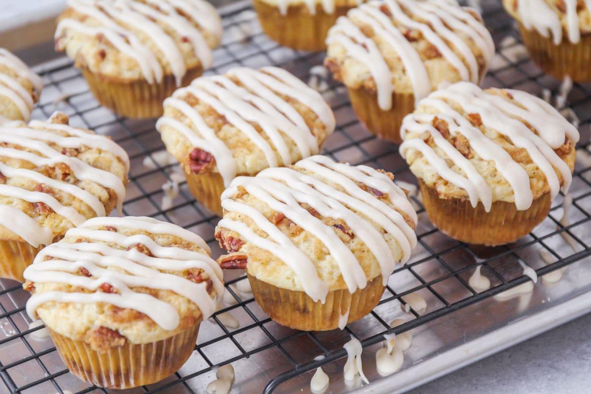 Glazed coffee cake muffins