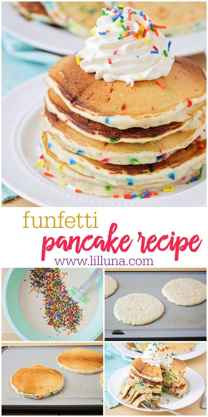 Funfetti Pancakes aka Birthday Cake Pancakes