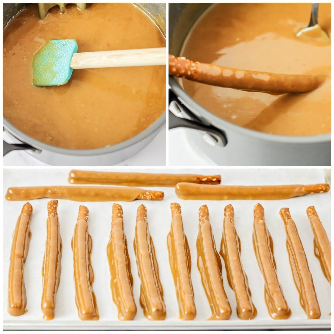 Homemade caramel recipe for pretzel rods