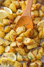 Easy Lemon Herb Roasted Potatoes