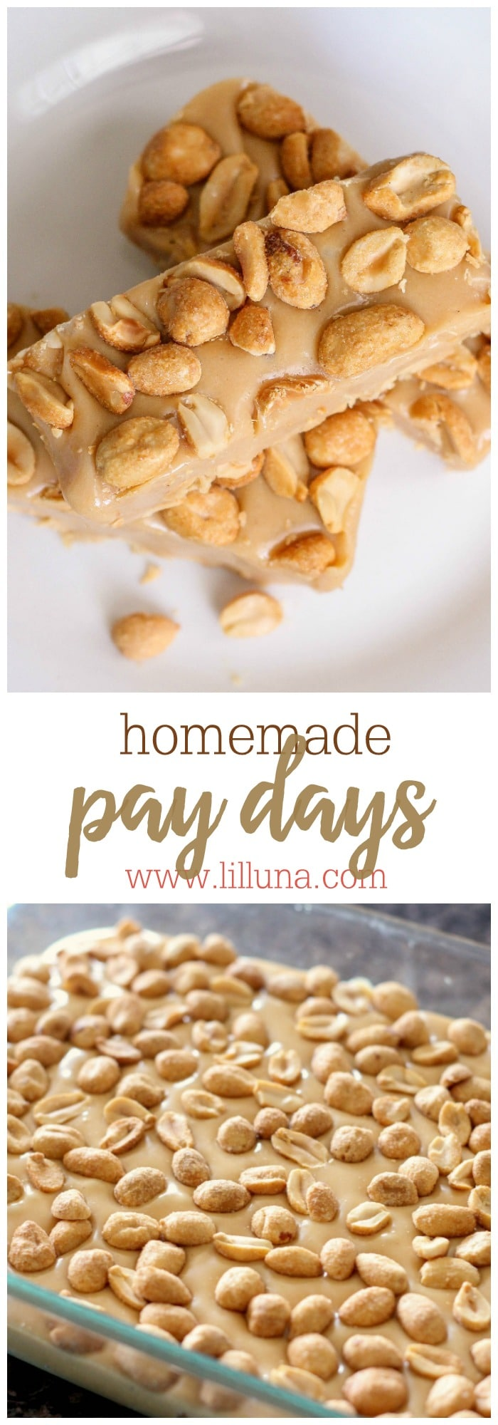 Homemade Pay Day Candy Bars