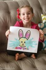 Easter Bunny Hand Print