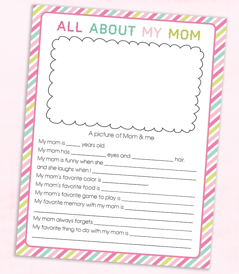 Free Mother S Day Questionnaire