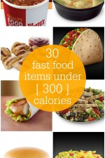 Fast Food Menu Items under 300 Calories