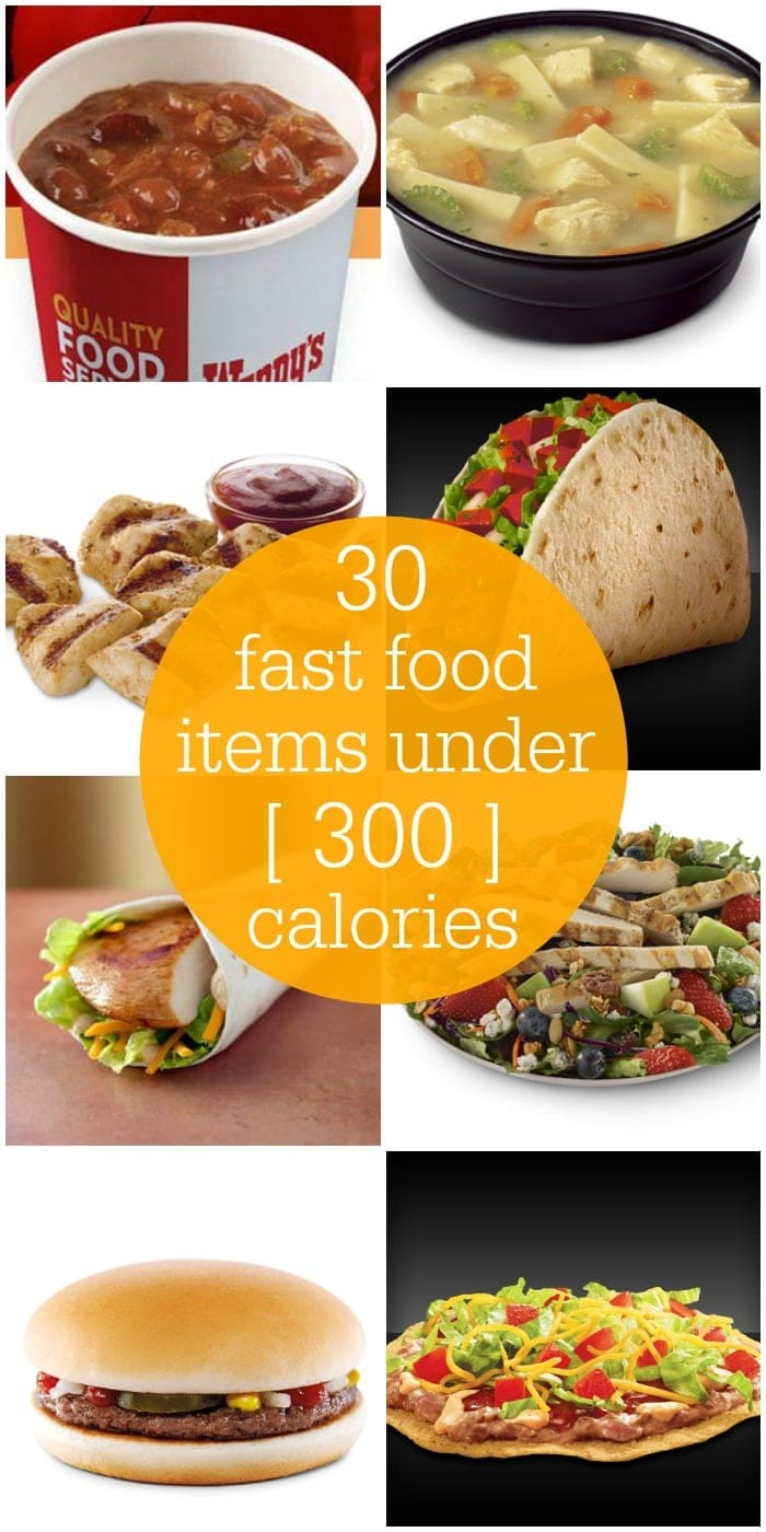 Fast Food Meals Under  Calories