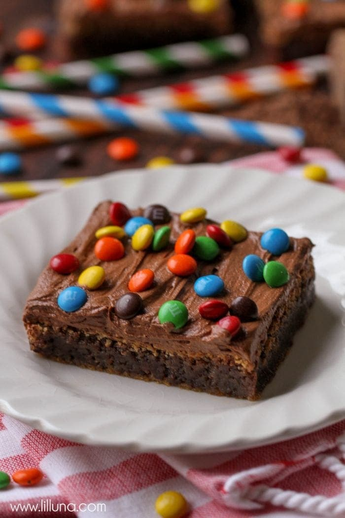 Brownies with Chocolate Buttercream Frosting
