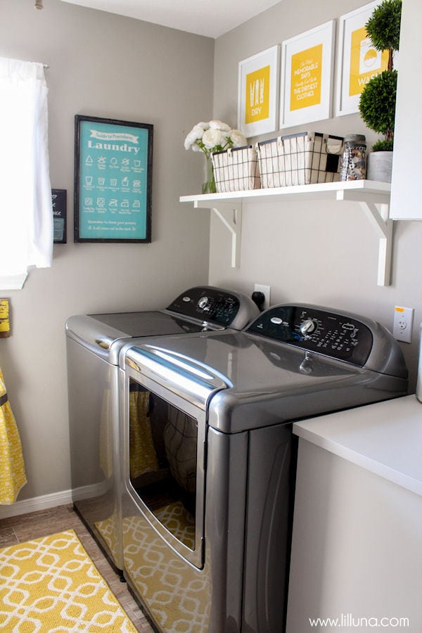 Beautiful Laundry Room Makeover On