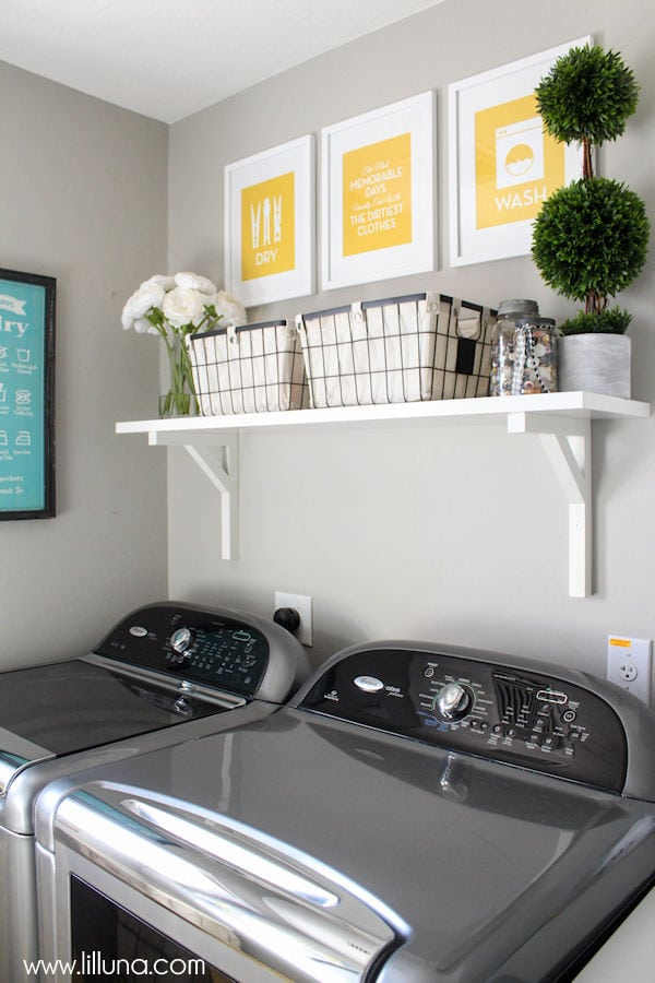 Beautiful Laundry Room Makeover on { lilluna.com }