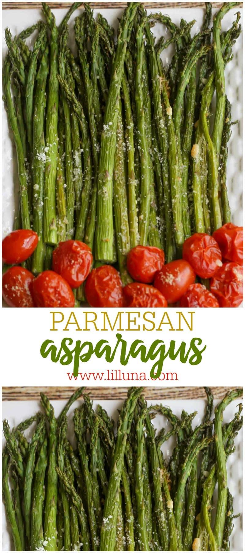 BEST Baked Parmesan Asparagus