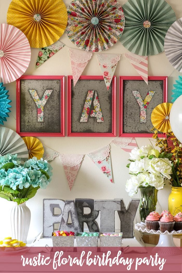 Rustic Floral Birthday Party ideas on { lilluna.com } Such pretty, girly ideas!