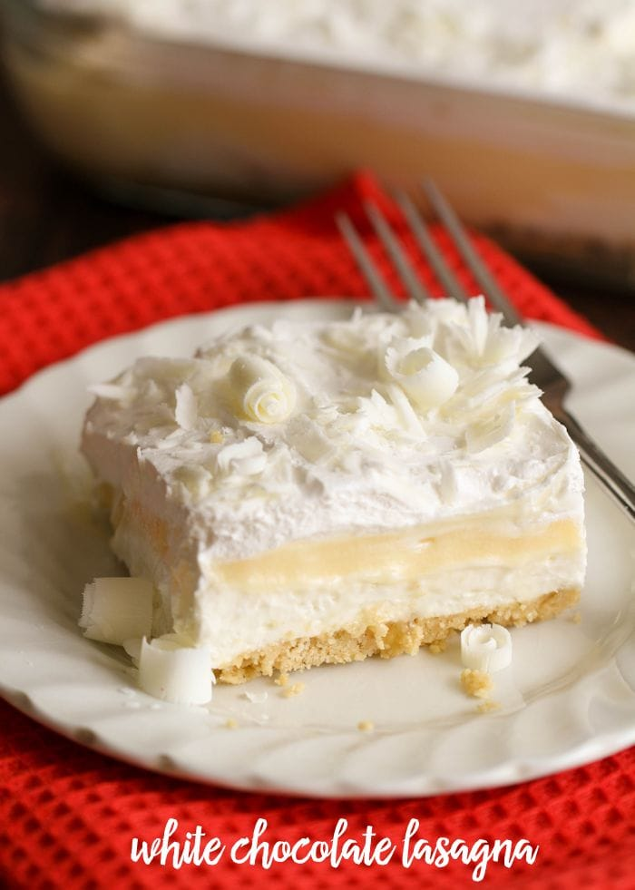 White Chocolate Lasagna