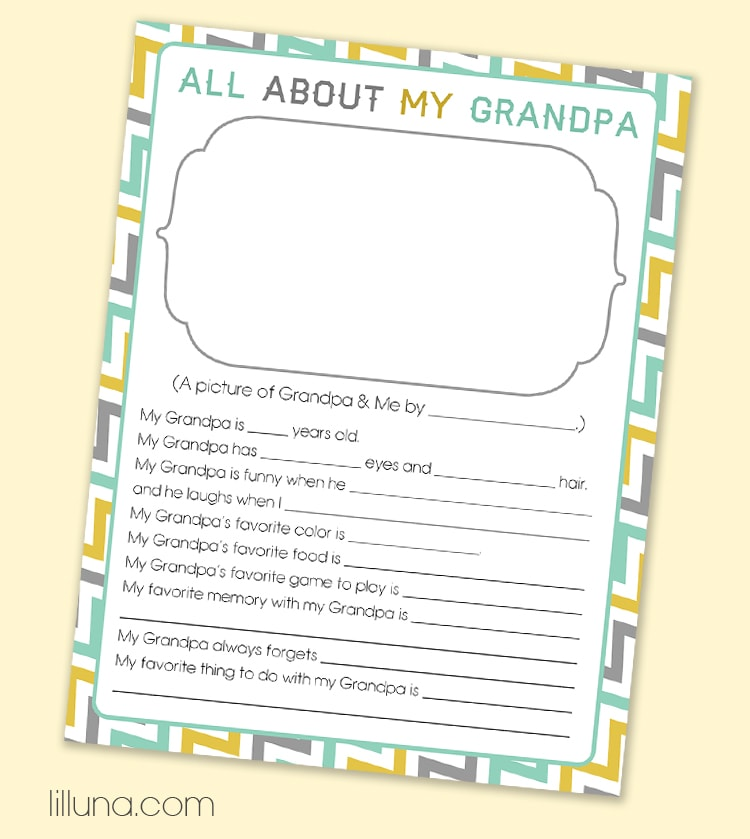 Obsessed image within all about grandpa printable